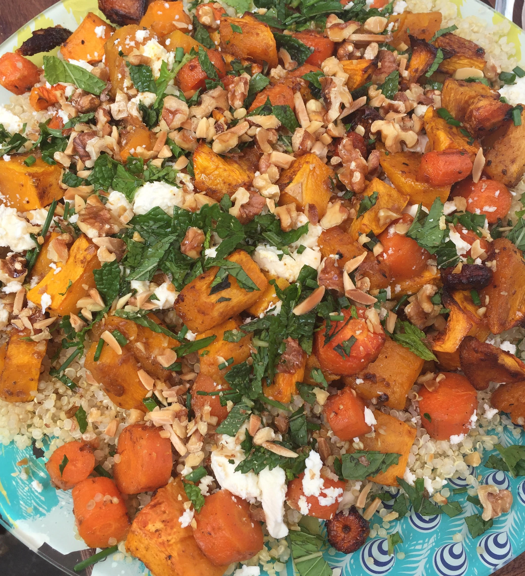 Sweet Potato & Carrot Quinoa Salad
