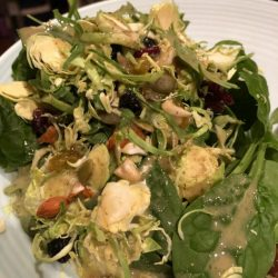 """Brussel Sprout """"Xmas in July"""" Salad"""